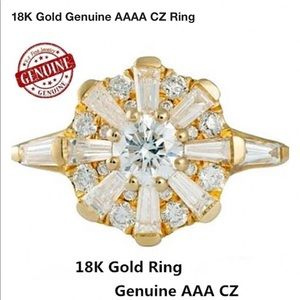 New 18kt yellow gold filled CZ ring